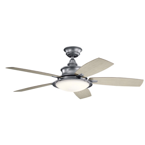 Cameron Weathered Steel Powder Coat 52-Inch LED Ceiling Fan