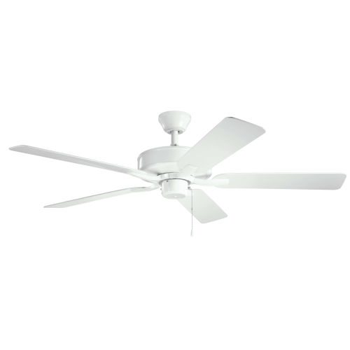 Basics Pro White 52-Inch Patio Ceiling Fan