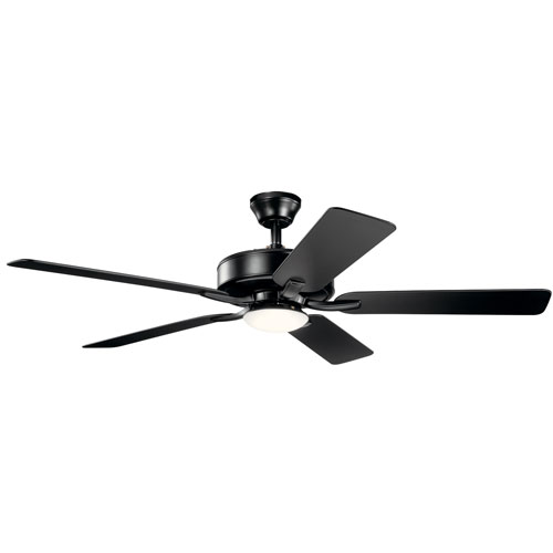 Basics Pro Designer Satin Black 52-Inch LED Ceiling Fan