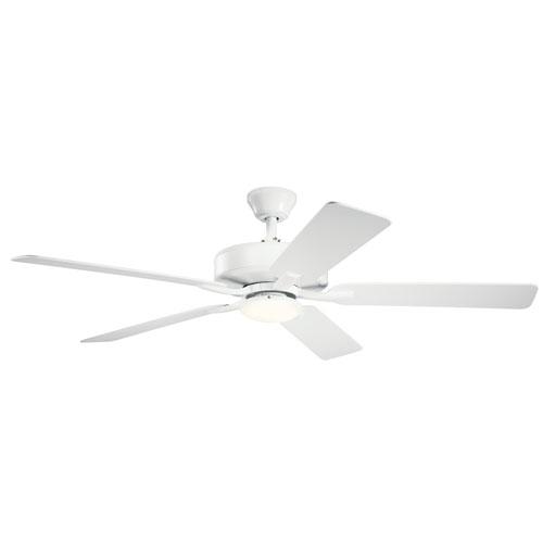 Basics Pro Designer White 52-Inch LED Ceiling Fan