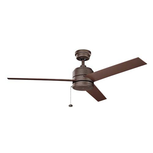 Arkwet Weathered Copper Powder Coat 52-Inch Ceiling Fan