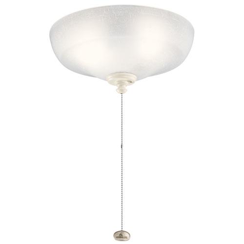 Multicolor 13-Inch Three-Light LED White Linen Fan Light Kit