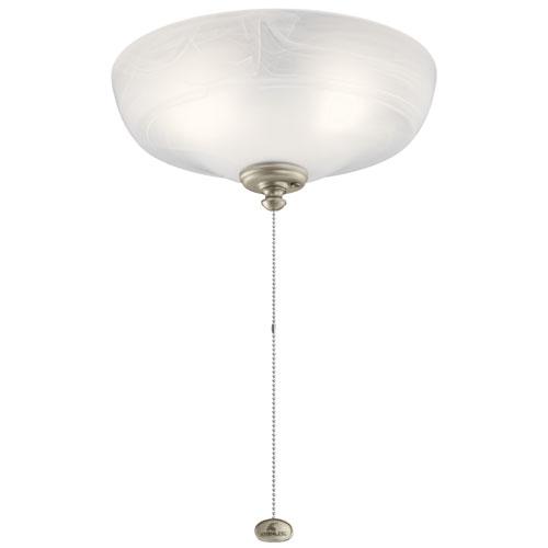 Multicolor 13-Inch Three-Light LED Alabaster Swirl Fan Light Kit