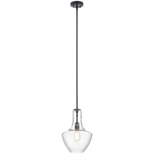 Everly Black 15-Inch One-Light Pendant