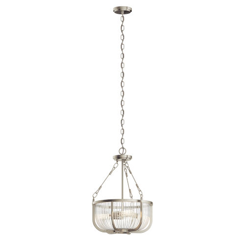 Roux Brushed Nickel 16-Inch Three-Light Pendant