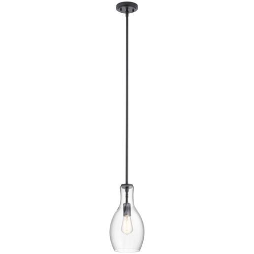 Everly Black 14-Inch One-Light Mini Pendant