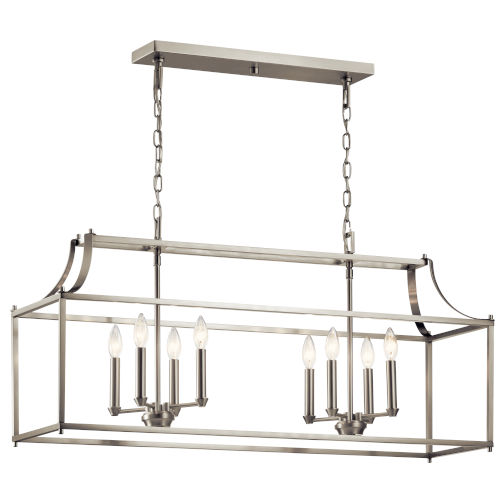 Morrigan Brushed Nickel 13-Inch Eight-Light Chandelier