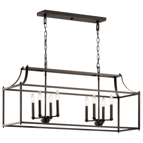 Morrigan Olde Bronze 13-Inch Eight-Light Chandelier