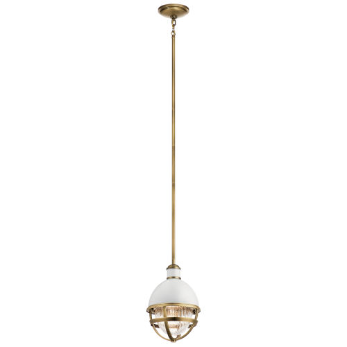 Tollis Natural Brass Eight-Inch One-Light Mini Pendant