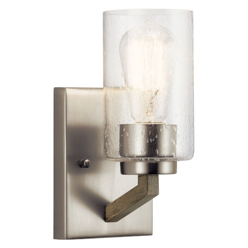Deryn Distressed Antique Gray Five-Inch One-Light Wall Sconce