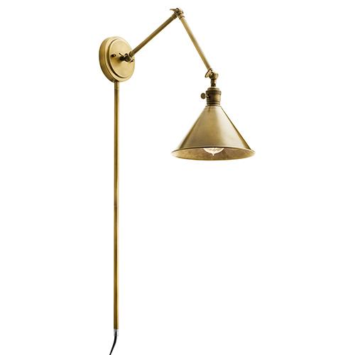 Ellerbeck Natural Brass One-Light Wall Sconce