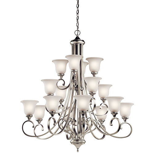 Monroe Brushed Nickel 16-Light Energy Star LED Chandelier