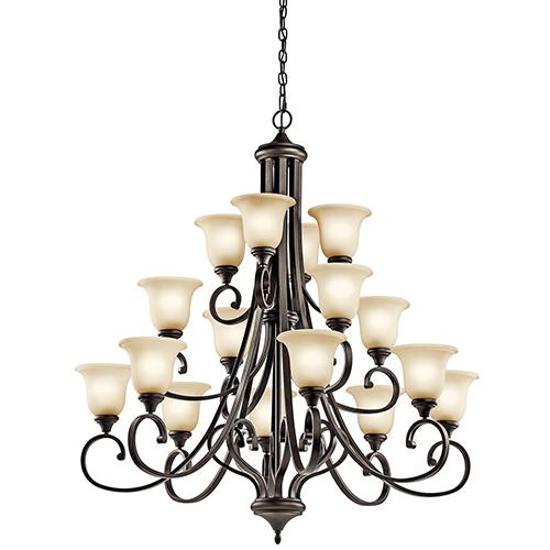 Monroe Olde Bronze 16-Light Energy Star LED Chandelier