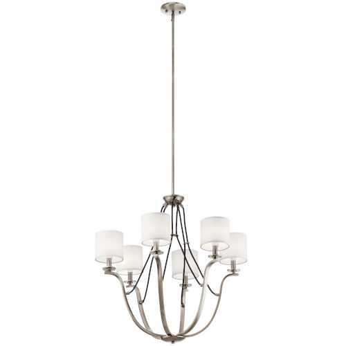 Thisbe Classic Pewter 28-Inch Six-Light Chandelier