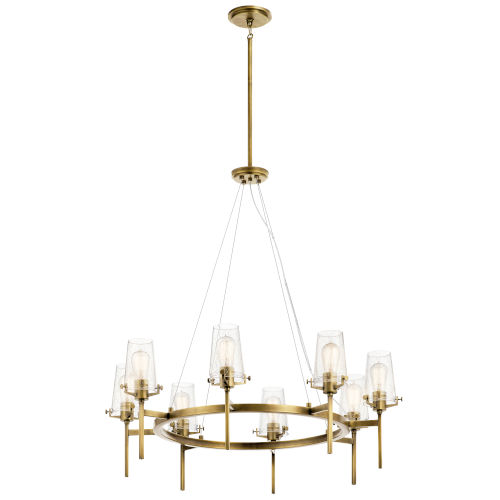 Alton Natural Brass 38-Inch Eight-Light Chandelier