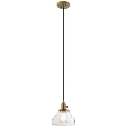 Avery Natural Brass Nine-Inch One-Light Mini Pendant