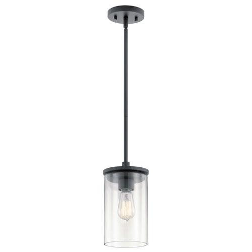 Crosby Black One-Light Mini Pendant