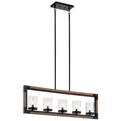 Marimount Auburn Stained Finish Five-Light Mini Chandelier