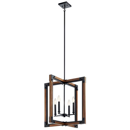 Marimount Auburn Stained Finish Four-Light Pendants