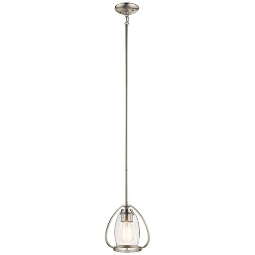 Tuscany Brushed Nickel One-Light Mini Pendant