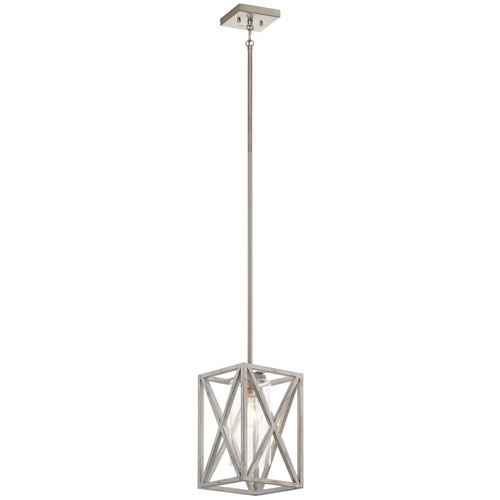 Moorgate Distressed Antique White One-Light Mini Pendant