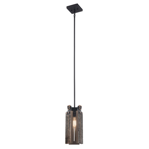 Ridgewood Textured Black One-Light Mini Pendant