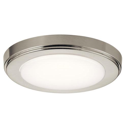 Zeo 7-Inch Round Flushmount Light in Brushed Nickel