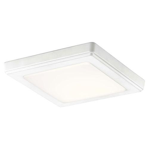 Kichler Zeo White 7-Inch Square Flushmount Light in White