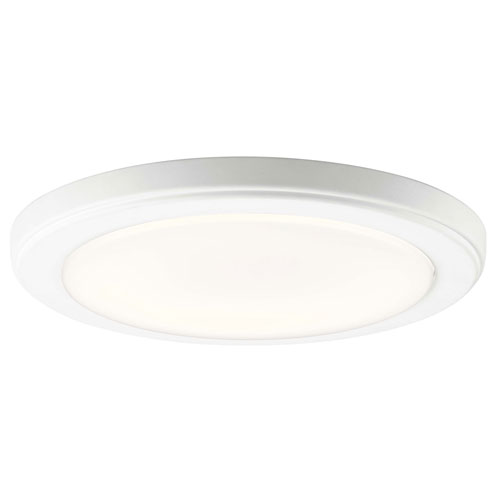 Kichler Zeo 10-Inch Round Flush Mount Light in White