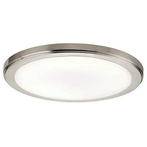 Zeo 13-Inch Round Flush Mount Light in Brushed Nickel