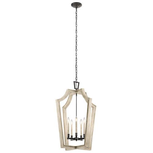 Botanica 5-Light Chandelier in Anvil Iron