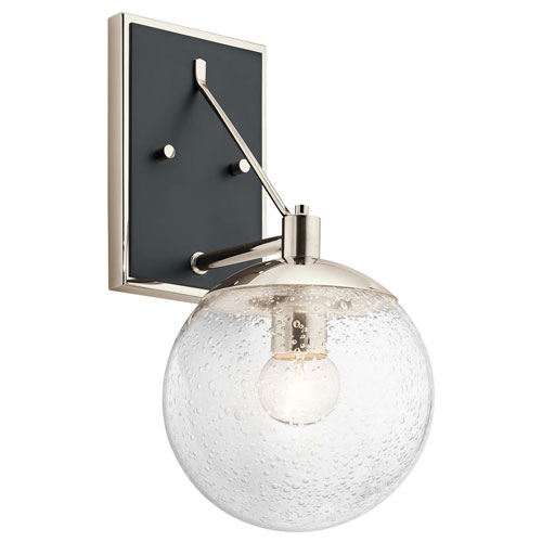 Marilyn 1-Light Wall Sconce in Polished Nickel