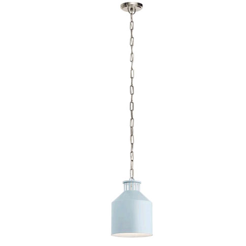 Montauk Light Blue One-Light Mini Pendant