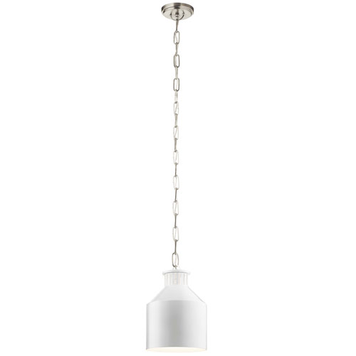 Montauk White One-Light Mini Pendant