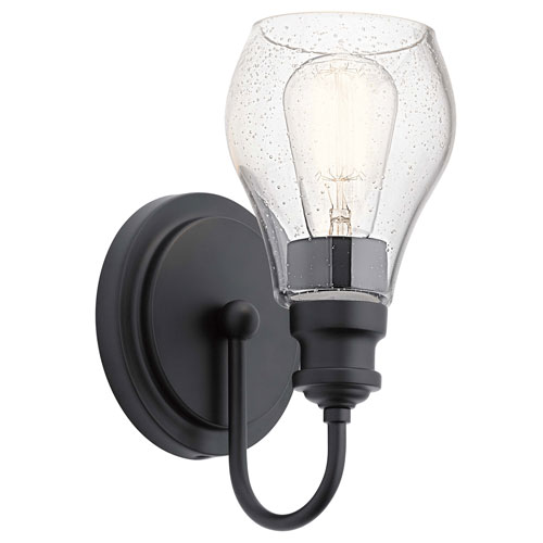Greenbrier Black One-Light Wall Sconce