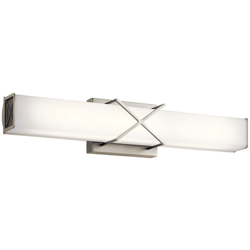 Trinsic Brushed Nickel Two-Light LED Bath Bar