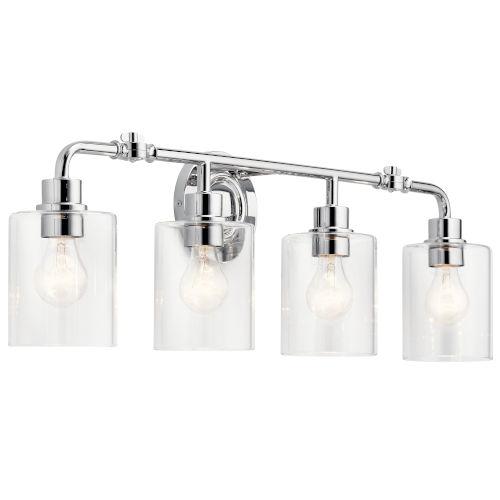 Gunnison Chrome 34-Inch Four-Light Bath Vanity