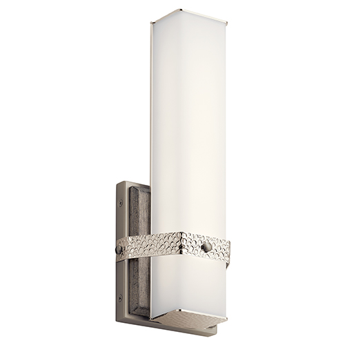 Bisou Polished Nickel LED Six-Inch Wall Sconce