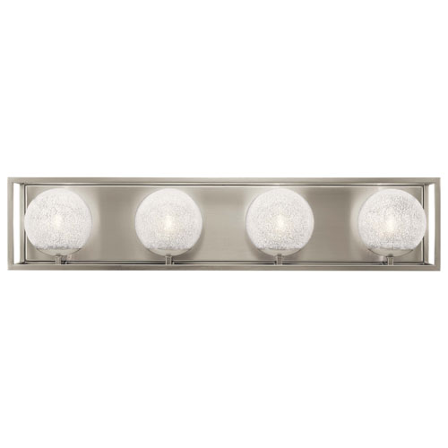Karia 4-Light Bath Light in Brushed Nickel