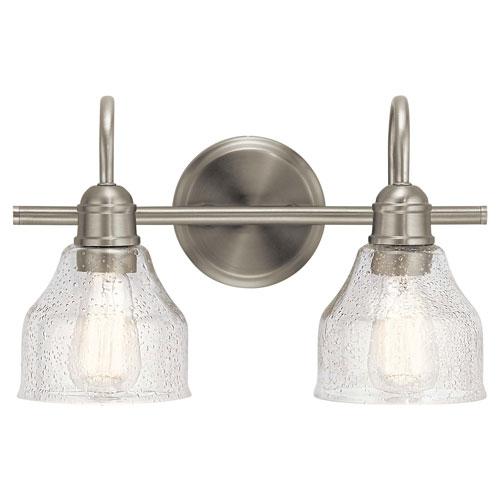 Avery 2-Light Bath Light in Brushed Nickel