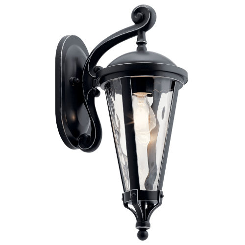 Cresleigh Black with Silver Seven-Inch One-Light Outdoor Wall Sconce