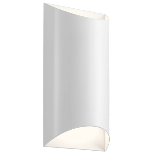Wesley White Two-Light LED Outdoor Wall Sconce