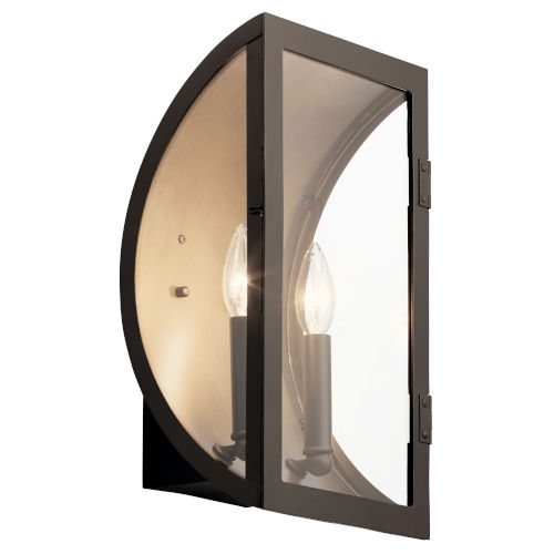 Narelle Olde Bronze Nine-Inch Two-Light Outdoor Wall Sconce