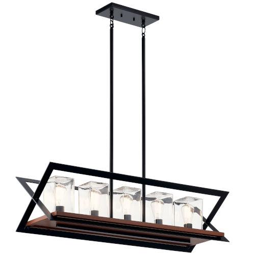 Morelle Black 11-Inch Five-Light Outdoor Chandelier