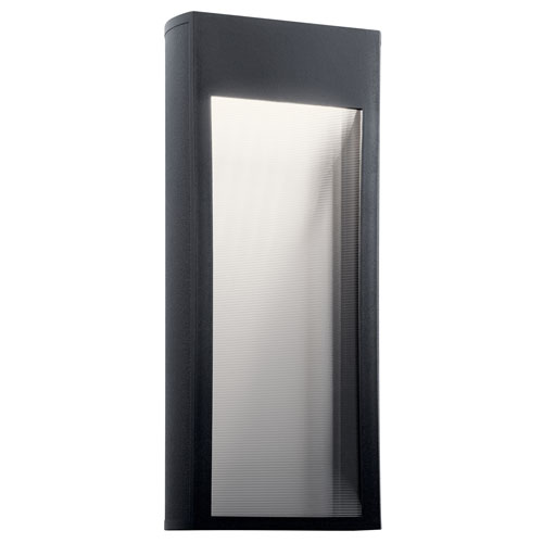 Ryo Textured Black Nine-Inch LED Outdoor Wall Sconce