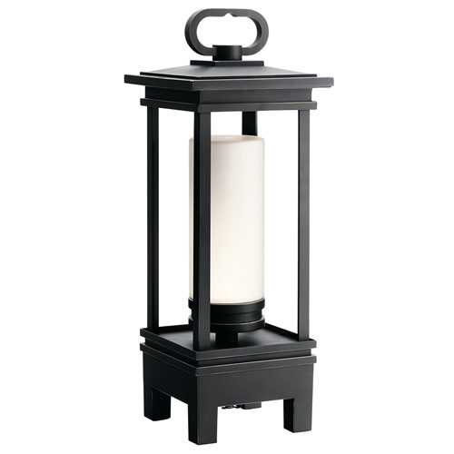Kichler South Hope Rubbed Bronze LED Outdoor Portable Bluetooth Lantern