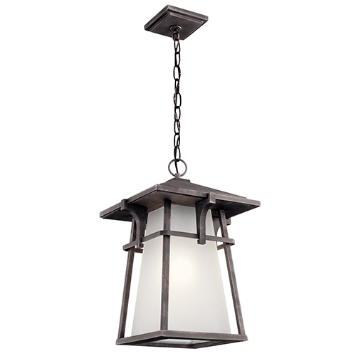 Beckett Weathered Zinc One-Light Energy Star LED Outdoor Pendant