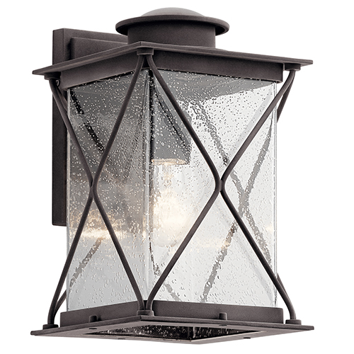 Kichler Argyle Weathered Zinc Eight-Inch One-Light Energy Star LED Outdoor Wall Mount
