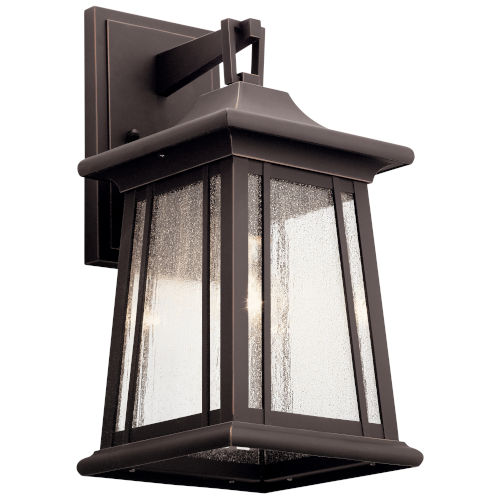 Taden Rubbed Bronze Eight-Inch One-Light Outdoor Wall Sconce