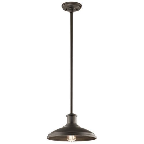 Allenbury Olde Bronze One-Light Convertible Pendant